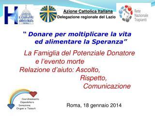 Roma, 18 gennaio 2014