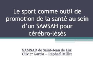 Le sport comme outil de promotion de la santé au sein d'un SAMSAH pour  cérébro -lésés