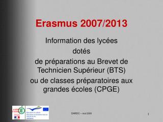 Erasmus 2007/2013
