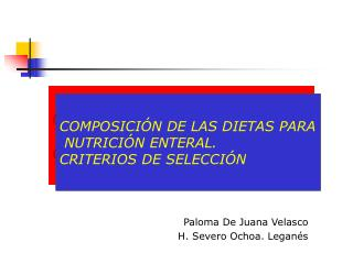 Paloma De Juana Velasco                          H. Severo Ochoa. Leganés