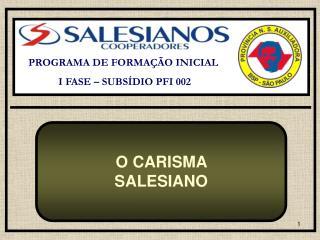 PROGRAMA DE FORMAÇÃO INICIAL  I FASE – SUBSÍDIO PFI 002