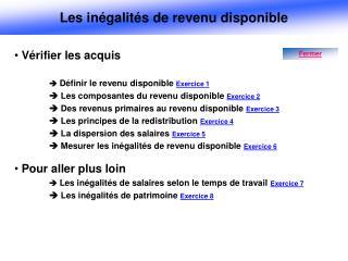 Vérifier les acquis  Définir le revenu disponible  Exercice 1