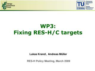 WP3:  Fixing RES-H/C targets