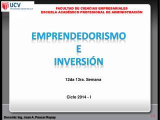 FACULTAD DE CIENCIAS EMPRESARIALES ESCUELA ACADÉMICO PROFESIONAL DE ADMINISTRACIÓN