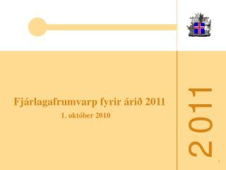 Fjárlagafrumvarp fyrir árið 2011