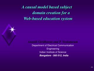 A causal model based subject        domain creation for a  Web-based education system