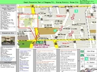 Simple Evacuation Chart of Wanggong Vil., Sinying District, Tainan City