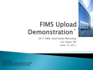 FIMS Upload Demonstration`
