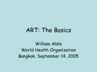 ART: The Basics