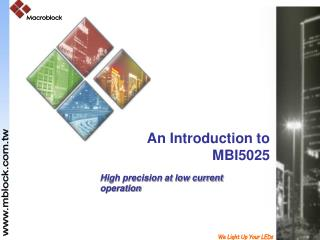 An Introduction to MBI5025