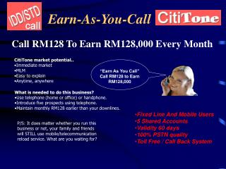 Earn-As-You-Call