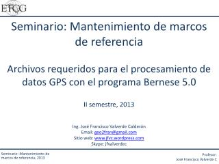 Seminario: Mantenimiento de marcos de referencia