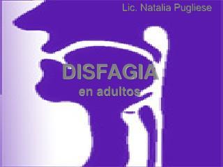 DISFAGIA en adultos