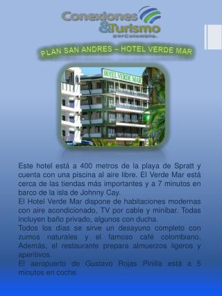 PLAN SAN ANDRES – HOTEL VERDE MAR