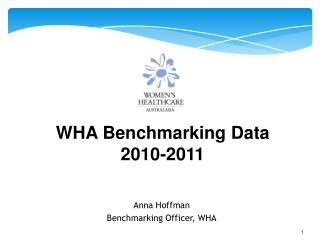 Anna Hoffman Benchmarking Officer, WHA