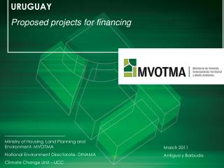 URUGUAY Proposed projects for financing