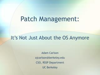 Patch Management: