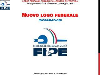 Nuovo logo federale