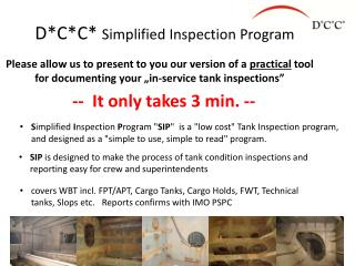 D*C*C*  Simplified Inspection Program