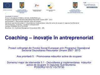 C oaching  – inova ție în antreprenoriat
