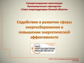 Саморегулируемая  организация Некоммерческое партнерство   «Союз энергоаудиторов Омской области»