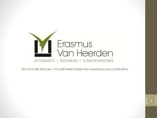 Erasmus van Heerden has embraced the 21 st  century and the technological benefits thereof .