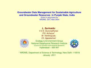 L. Surinaidu V.V.S. Gurunadharao  P.S. Acharya* M. Venktrayudu  Ch. Appalachari