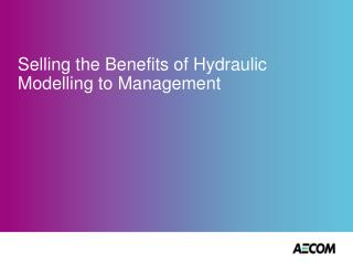 Selling the Benefits of Hydraulic Modelling to Management