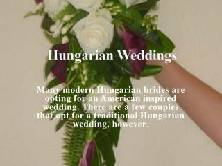 Hungarian Weddings