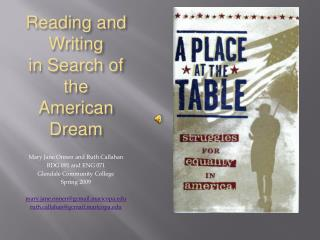 Reading and Writing  in Search of the American Dream