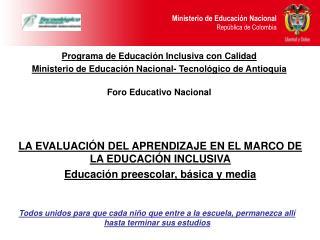 Programa de Educación Inclusiva con Calidad