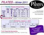 Mat participants receive 10 discount on Pilates Personal  Group Training
