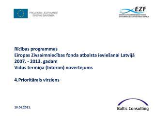 Rīcības programmas  Eiropas Zivsaimniecības fonda atbalsta ieviešanai Latvijā