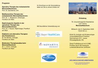 Einladung 78. Uroonkologischer Arbeitskreis zum Thema Nierenzellkarzinom