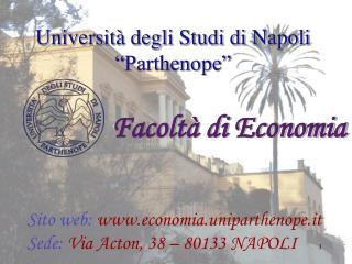 """Università degli Studi di Napoli """"Parthenope"""""""