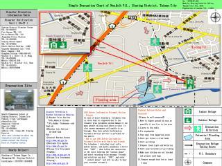 Simple Evacuation Chart of Nanjhih Vil., Sinying District, Tainan City