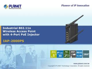 Industrial 802.11n  Wireless Access Point  with 4-Port PoE Injector