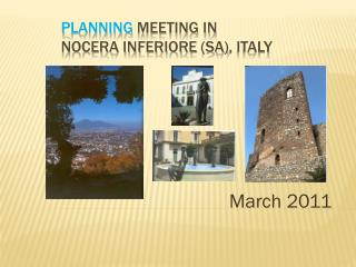 P lanning meeting in  Nocera Inferiore (SA) ,  Italy