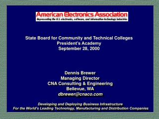 State Board for Community and Technical Colleges President s Academy September 28, 2000