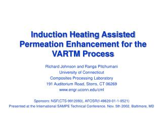 Induction Heating Assisted Permeation Enhancement for the VARTM Process