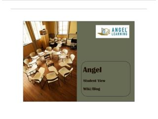 Angel Student View Wiki / Blog