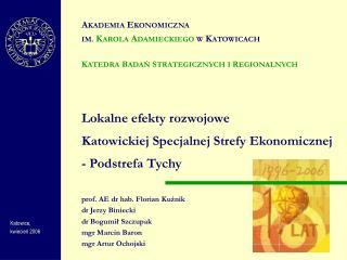 Lokalne efekty rozwojowe Katowickiej Specjalnej Strefy Ekonomicznej  - Podstrefa Tychy