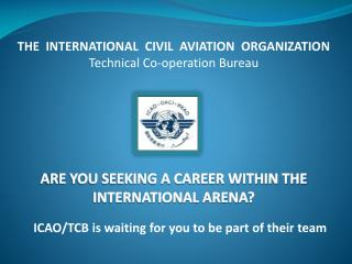 ARE YOU SEEKING A CAREER WITHIN THE INTERNATIONAL ARENA?