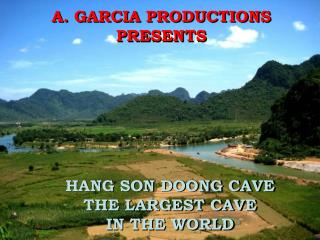 A. GARCIA PRODUCTIONS PRESENTS