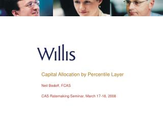 Capital Allocation by Percentile Layer   Neil Bodoff, FCAS  CAS Ratemaking Seminar, March 17-18, 2008