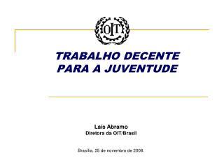 TRABALHO DECENTE PARA A JUVENTUDE