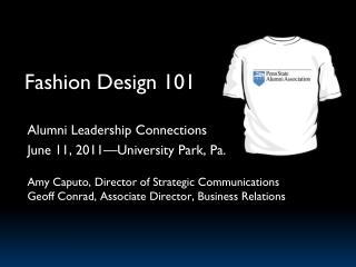 Fashion Design 101