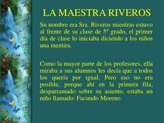LA MAESTRA RIVEROS