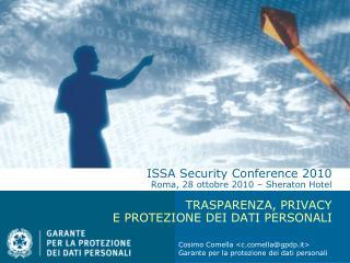 Cosimo Comella <cella@gpdp.it> Garante per la protezione dei dati personali