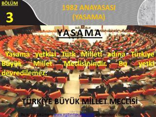 1982 ANAYASASI  (YASAMA)